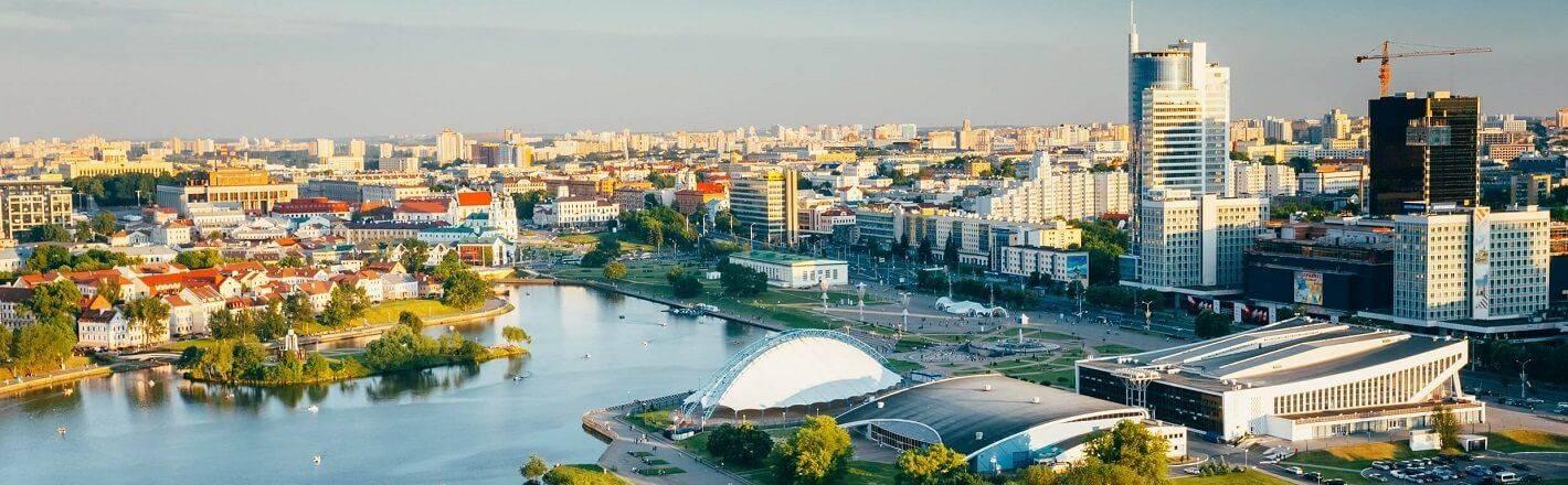 Palast der Republik: In einem Hotel in der der weißrussischen Hauptstadt Minsk erleben auch Sie eines der kulturellen Höhepunkte des Landes - dank HRS.de.